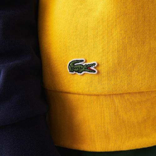 sweatshirt Lacoste coton molleton color block