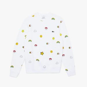 LACOSTE Sweatshirt Friendswithyou mixte Blanc