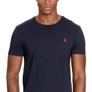 RALPH LAUREN Tee Shirt Col Rond Slim Navy