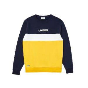LACOSTE  Sweatshirt Color-Block Molleton Marine