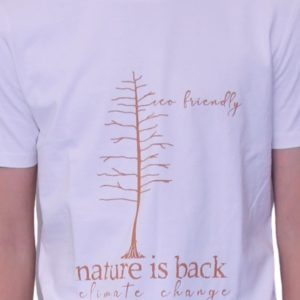 BONMOMENT T-shirt Coton Bio Nature Vintage
