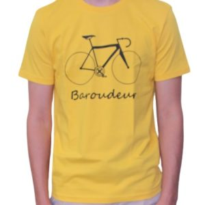 BONMOMENT T-shirt Coton Bio Baroudeur Yellow