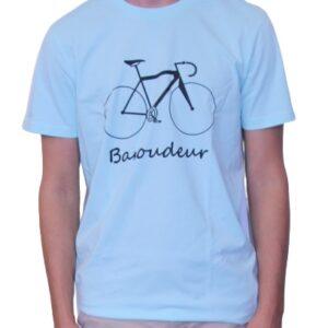 BONMOMENT T-shirt Coton Bio Baroudeur Blue