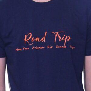 BONMOMENT T-shirt Coton Bio Road Trip Marine