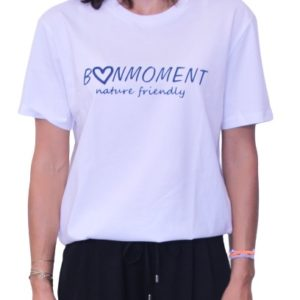 BONMOMENT T-shirt Coton Bio Friendly Blanc