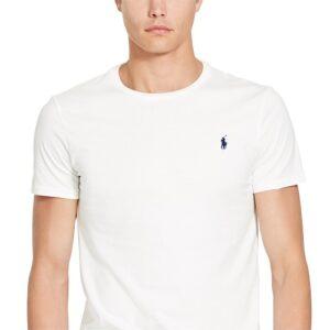 RALPH LAUREN Tee Shirt Col Rond Slim White