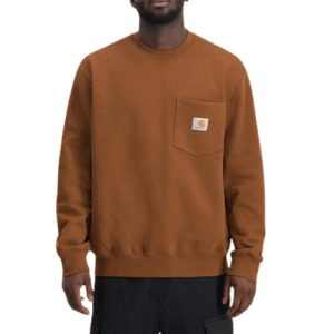 CARHARTT Pocket sweatshirt brandy