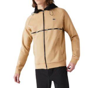 LACOSTE Sweatshirt zippé molleton beige