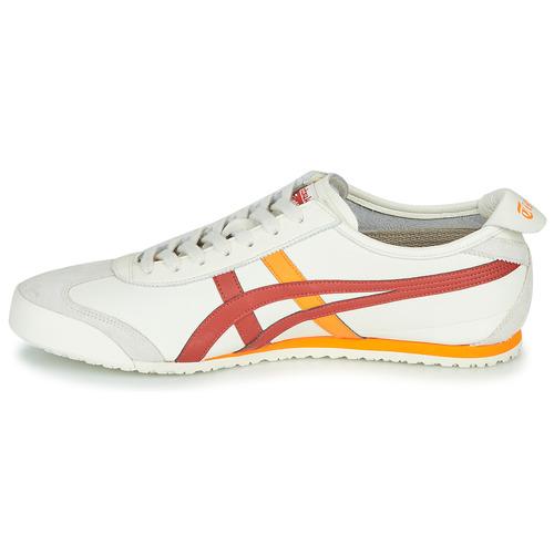 sport aventure orange chaussures sneakers asics Onitsuka mexico creme orange homme