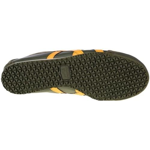 sport aventure orange chaussures sneakers asics Onitsuka mexico kaki homme