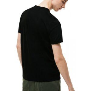 LACOSTE T-shirt Col Rond Coton Pima noir