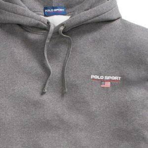 RALPH LAUREN Sweat capuche Polo Sport grey