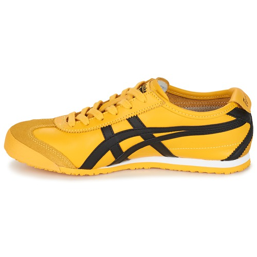 sport aventure orange chaussures sneakers asics Onitsuka mexico jaune homme