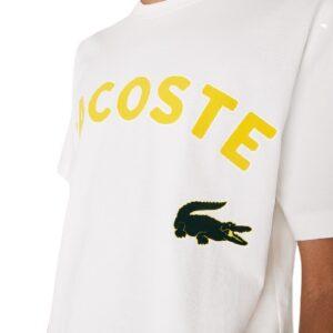 LACOSTE T-shirt imprimé Live blanc
