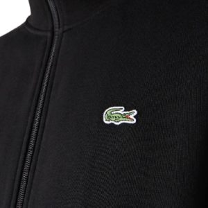 LACOSTE Veste zippée molleton noir