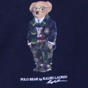 RALPH LAUREN Sweat Polo Bear molleton marine