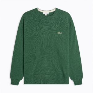 LACOSTE Pull coton bio vert
