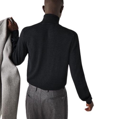 Sport Aventure Orange Pull laine mérinos Lacoste col roulé mamgasin vêtement sport et mode homme et femme
