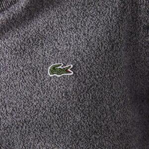 LACOSTE Pull coton bio gris chiné