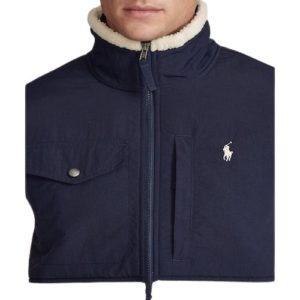 RALPH LAUREN Blouson winter polaire cream