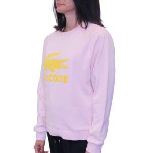 LACOSTE Sweatshirt molleton léger femme rose