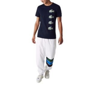 LACOSTE T-shirt imprimé Croco  marine