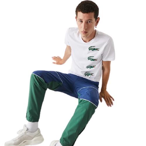 Sport Aventure Orange T-shirt Lacoste imprimé croco magasin de vêtement et sneakers Lacoste mode sport homme et femme