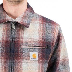 CARHARTT Veste Detroit doublée laine bordeaux