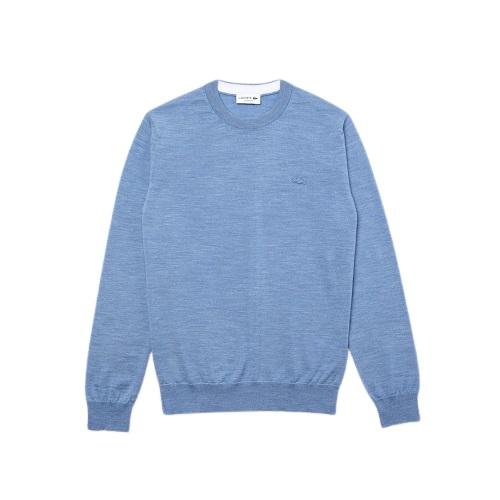 Sport aventure orange Pull laine merinos Lacoste magasin vêtement et chaussures homme et femme
