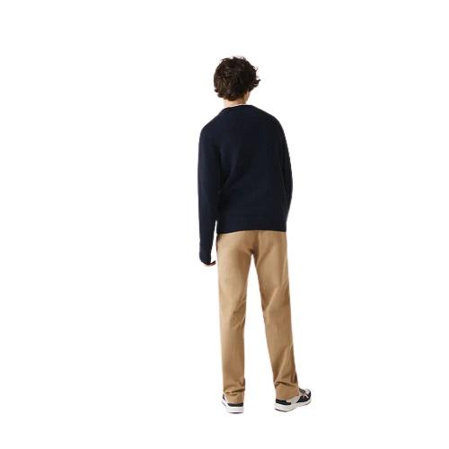 pull laine et coton Lacoste homme sport aventure orange vêtements et chaussures