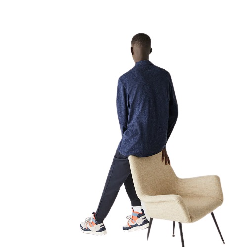 sport aventure Orange polo Lacoste manches longues homme magasin vêtement chaussures sneakers mode sport