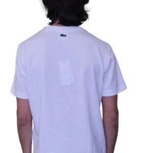 LACOSTE T-shirt Live monogramme blanc