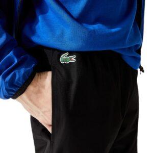 LACOSTE Pantalon Sport bandes siglées noir