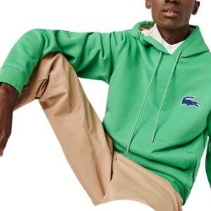 LACOSTE Sweat capuche badge vert