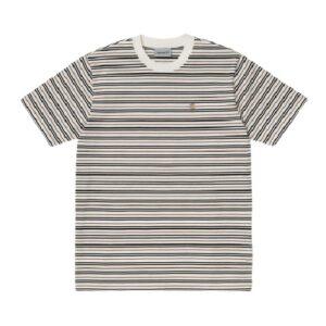 CARHARTT T-shirt Akron rayé wax