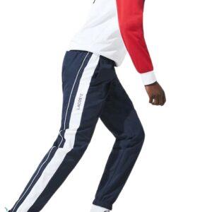 LACOSTE Pantalon Sport marine bicolore