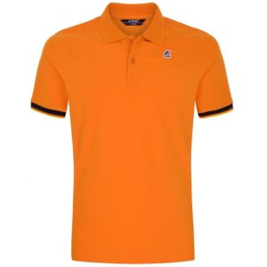 K WAY Polo Vincent Contrast orange
