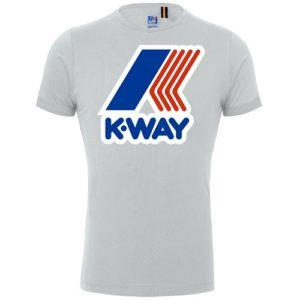 K WAY T-shirt Pete white