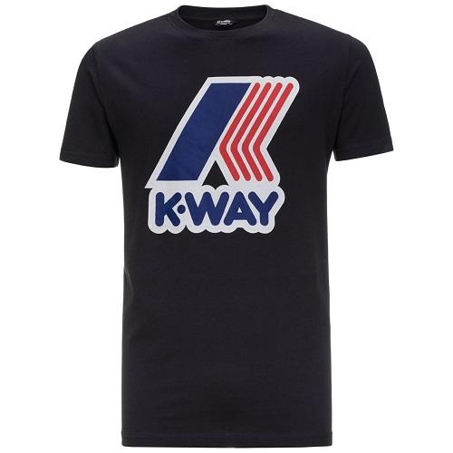 T-shirt K WAY gros logo en coton magasin sport aventure à Orange