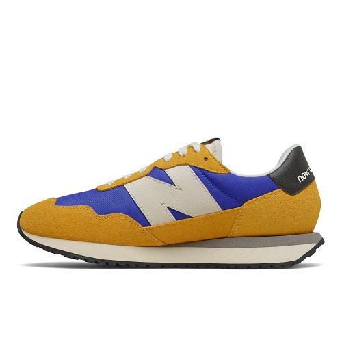 chaussures running New Balance 237 homme jaune bleu basket new balance ms237 sport aventure à Orange