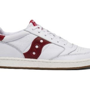 SAUCONY Jazz court red en cuir