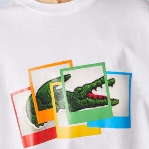 LACOSTE T-shirt Polaroid Live blanc