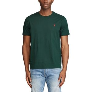 RALPH LAUREN T-Shirt green Col Rond Slim