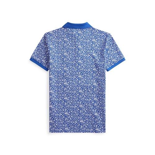polo Ralph Lauren en coton fleuri bleu magasin sport aventure à Orange vetement et accessoires Ralph Lauren