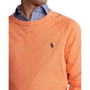 RALPH LAUREN Sweat orange coton éponge