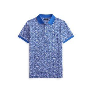 RALPH LAUREN Polo fleuri bleu