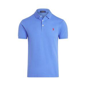 RALPH LAUREN Polo Slim bleu et stretch