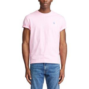 RALPH LAUREN T-Shirt pink Col Rond Slim