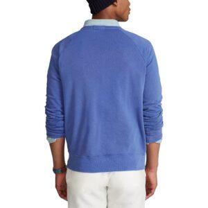 RALPH LAUREN Sweat bleu coton éponge