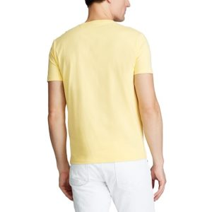 RALPH LAUREN T-Shirt yellow Col Rond Slim